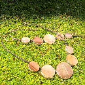 Kenneth Cole Iridescent Tan Necklace Bracelet Set